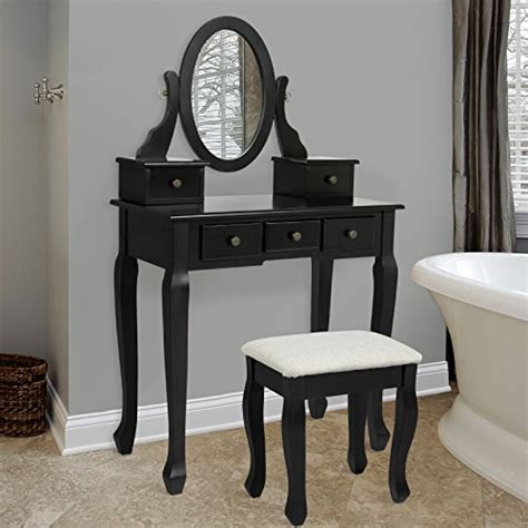 Bathroom Vanities With Makeup Desk Bathroom Vanity Table Jewelry Makeup Desk Bench Drawer Hair Import It All