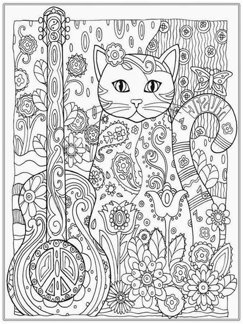 free printable coloring pages for young adults cat coloring pages for adults bestofcoloring com