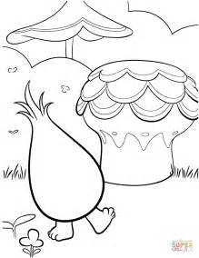 fuzzbert from trolls coloring page free printable