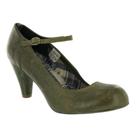 rocket happy womens leather court shoes olive green