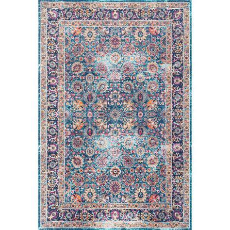 nuloom vintage floral kiyoko blue 8 ft x nuloom vintage floral isela blue 8 ft x 10 ft area rug rzsw10a 8010 the home depot