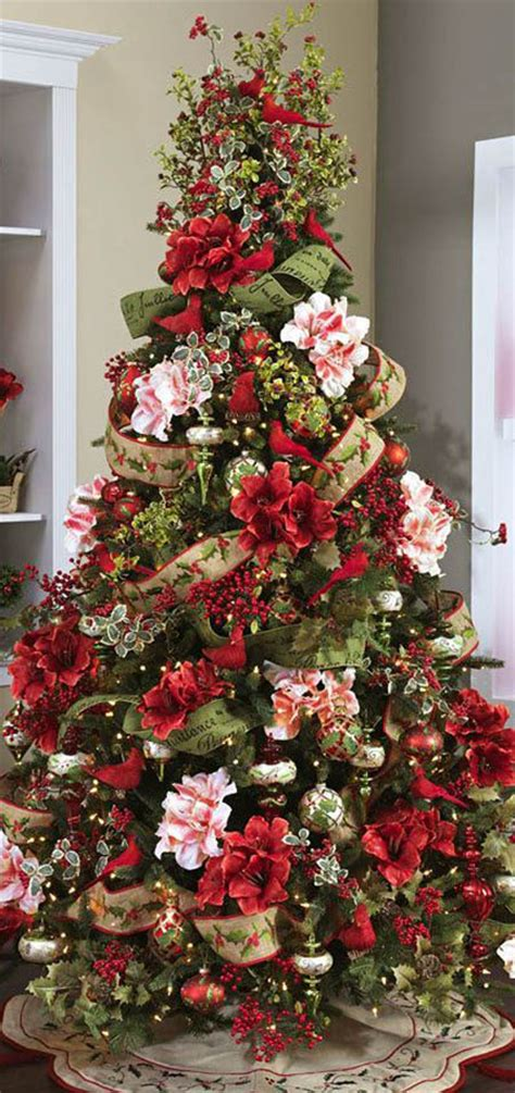 pretty decorated christmas trees beautiful tree decorations ideas celebration all about