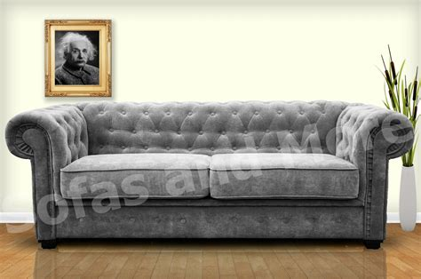 Brand New Venus Chesterfield Style 3 Seater Sofa Bed Grey Chesterfield Sofa Bed