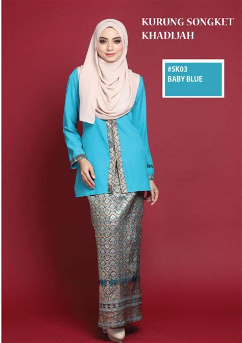 Baju Raya Songket Moden norzi beautilicious house koleksi baju kurung songket