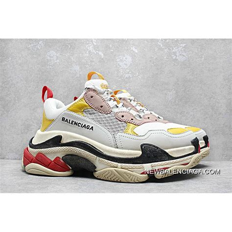 2018 cheap to buy balenciaga clunky sneaker s white pink yellow price 135 00