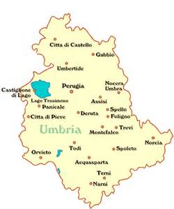 Umbria Italy Map by Map Of Todi