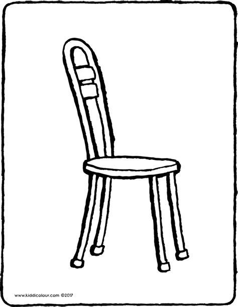 stuhl zum ausmalen m 246 bel kleurprenten seite 2 2 kiddi kleurprentjes