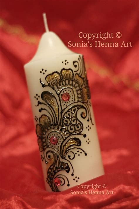 henna design on candle sonia s henna art henna candle art henna design