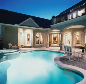 Luxury House Plans With Pools by Luxury House Plan Pool Photo Plan 047d 0168 House Plans