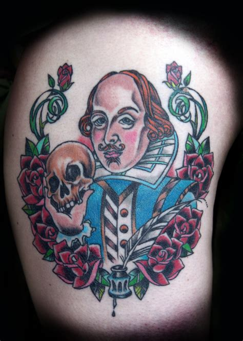 shakespeare tattoo the bard contrariwise literary tattoos