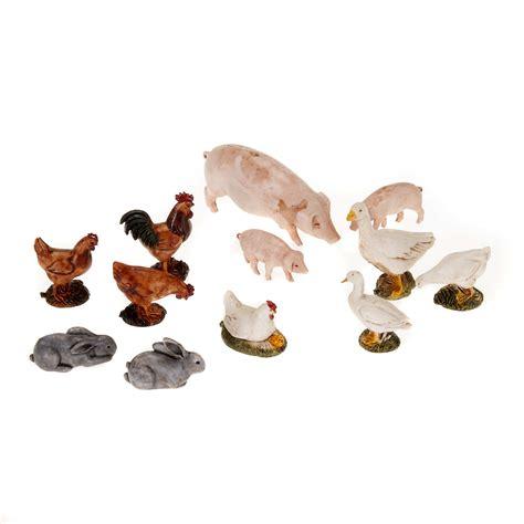 animali da cortile gratis animali da cortile per presepe 12 pz vendita su