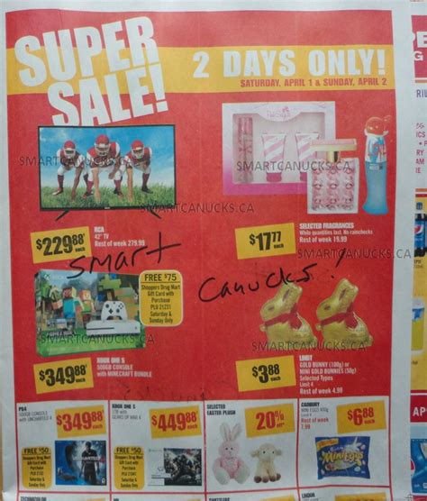 Shoppers Gift Cards For Sale - shoppers drug mart super sale april 1 2 get 10 off itunes xbox one s 349 88 75