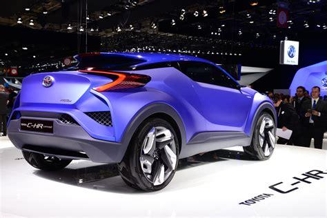 chr toyota concept toyota c hr concept arrives at the paris motor show