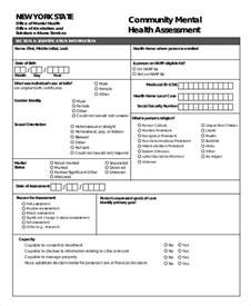mental health assessment template free health assessment form
