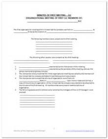Free Missouri Single Member minutes of meeting free llc minutes of meeting template