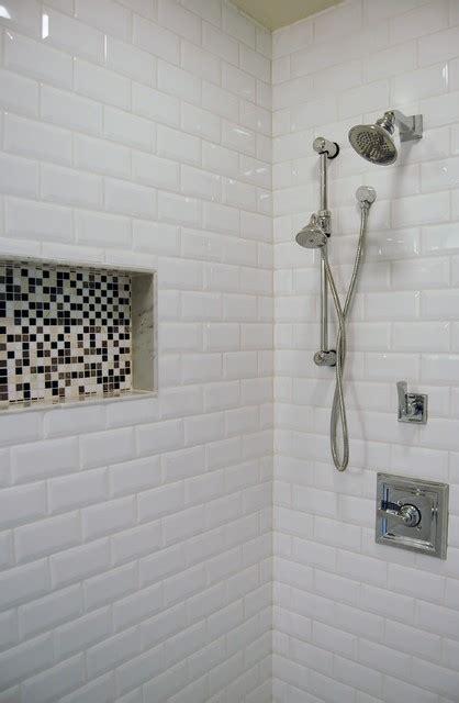 beveled subway tile shower beveled subway tile contemporary mosaic transitional