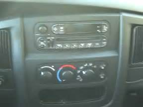 how to dodge ram up car stereo radio cd removal
