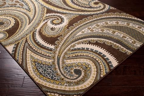 green paisley rug meticulously woven contemporary brown green paisley floral folkestone rug 5 3x7 contemporary