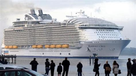 how much is the biggest boat in the world world s largest cruise ship harmony of the seas arrives