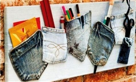 diy home office redecorating ideas recycled things what to do with old jeans 4 diy ideas for recycling