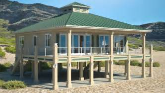 Cracker Style Log Homes clearview 1600p 1600 sq ft on piers beach house plans