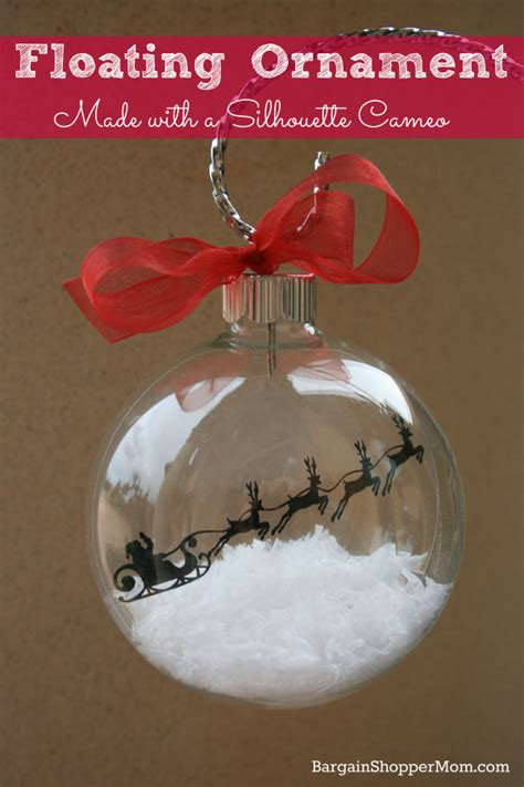 floating ornament made with adhesive vinyl and a