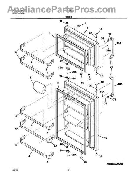frigidaire refrigerator parts diagram frigidaire 240331401 refrigerator door bar