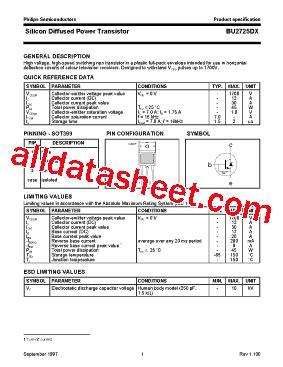 transistor d2539 datasheet bu2725dx datasheet pdf nxp semiconductors