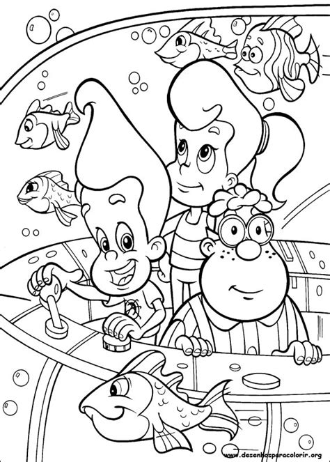 Jimmy Neutron Para Colorir Nick Coloring Pages For Boys