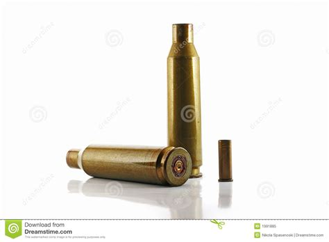 Three Used Bullet Casings Royalty Free Stock Photo Image
