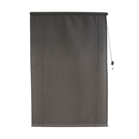 windoware 1 5 x 1 8m charcoal rollup outdoor blind