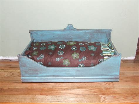 old dresser into dog bed somethin salvaged old chairs and dresser drawers