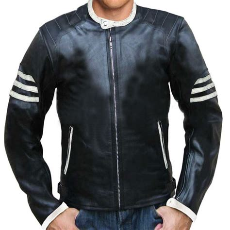 Jaket Black Ghost Inter ghost rider style black leather jacket leather jackets usa