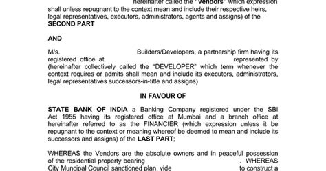 tripartite agreement template possession certificate sle bangalore image collections