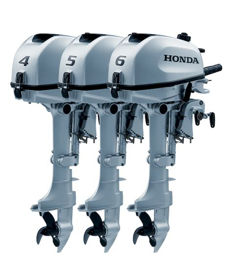 new honda boat motors honda s three new outboard models 4 hp 5 hp and 6 hp