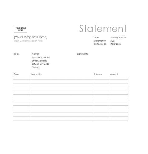 40 Billing Statement Templates Medical Legal Itemized More Your Customer Template