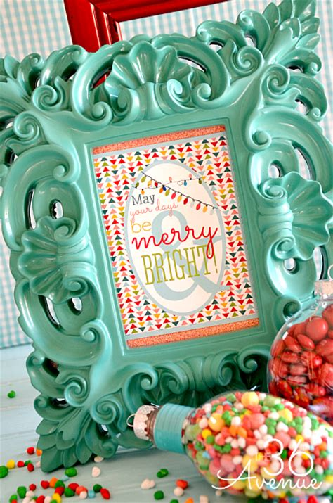 merry bright christmas printables for framing free christmas printable the 36th avenue