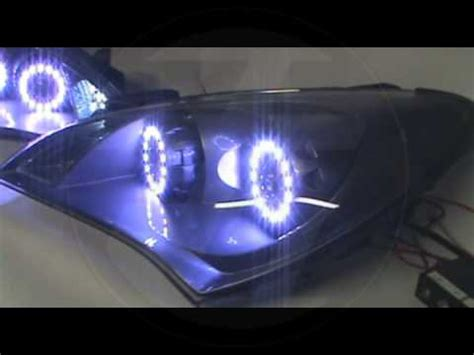 genesis coupe dual projector headlights with rgb and color matched paint