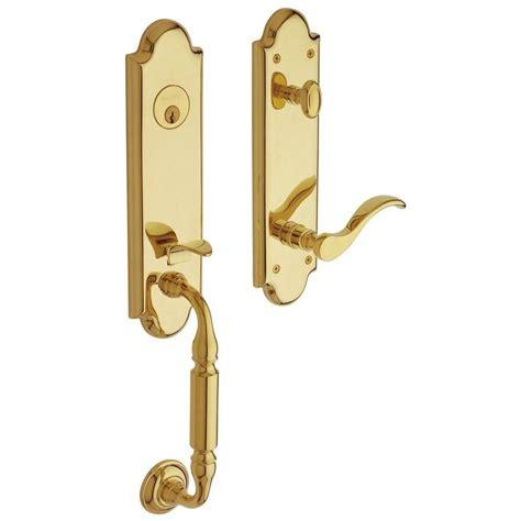 Baldwin Door Handleset - shop baldwin manchester lifetime polished brass single