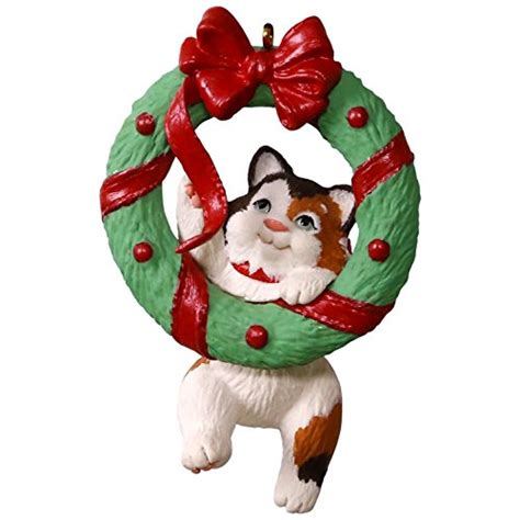 hallmark cat ornaments hallmark keepsake 2017 mischievous kittens wreath ornament my