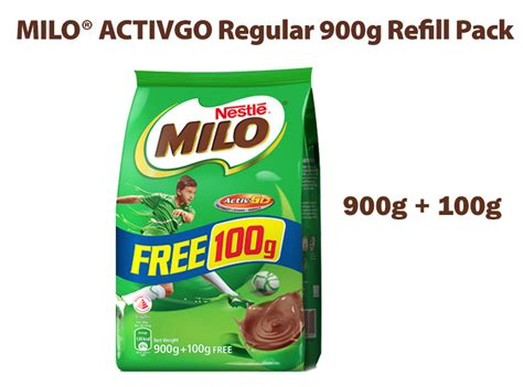 Milo Activ 3in1 buy milo 174 activ go 900g free 100g refill pack 3in1