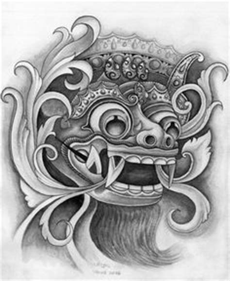 tatto di dada barong indonesian tattoo design javanese tattoo collection