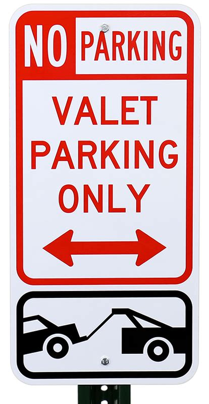 Valet Parking Duties by Valet Parking Only Sign With Bidirectional Arrow Sku K 8528 B