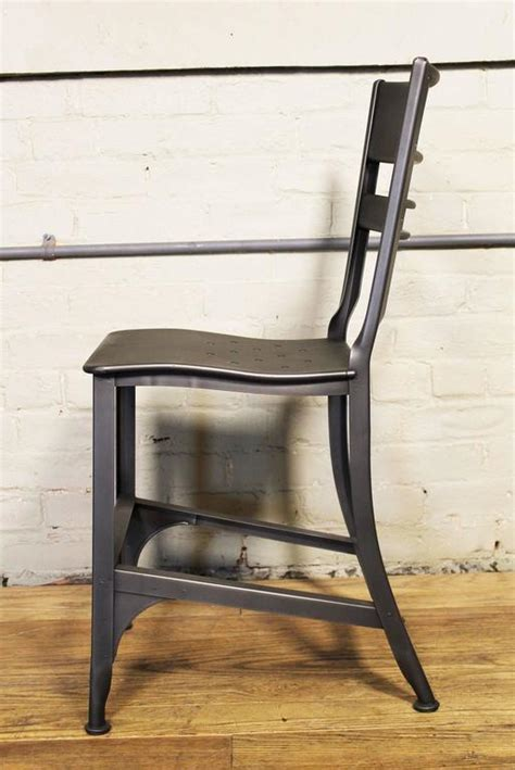 eight industrial metal dining chairs at 1stdibs dining chair seat vintage industrial mid century modern