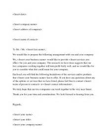 Business Letter Offer 12 Business Sle Letters Word Excel Pdf Formats