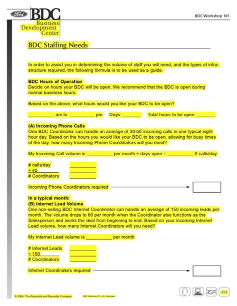 participant workbook template pages from bdc workshop 101 v1b participant