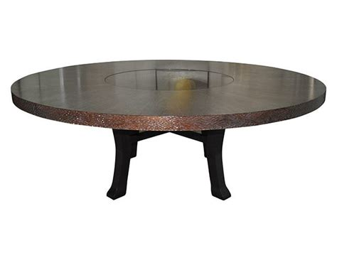 Dining Table With Built In Lazy Susan Berman Rosetti 84 Dining Table With Built In Lazy