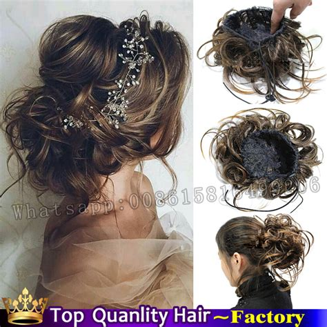 hairstyles with pieces fake bun hair pieces clip in bun chignon hairpiece