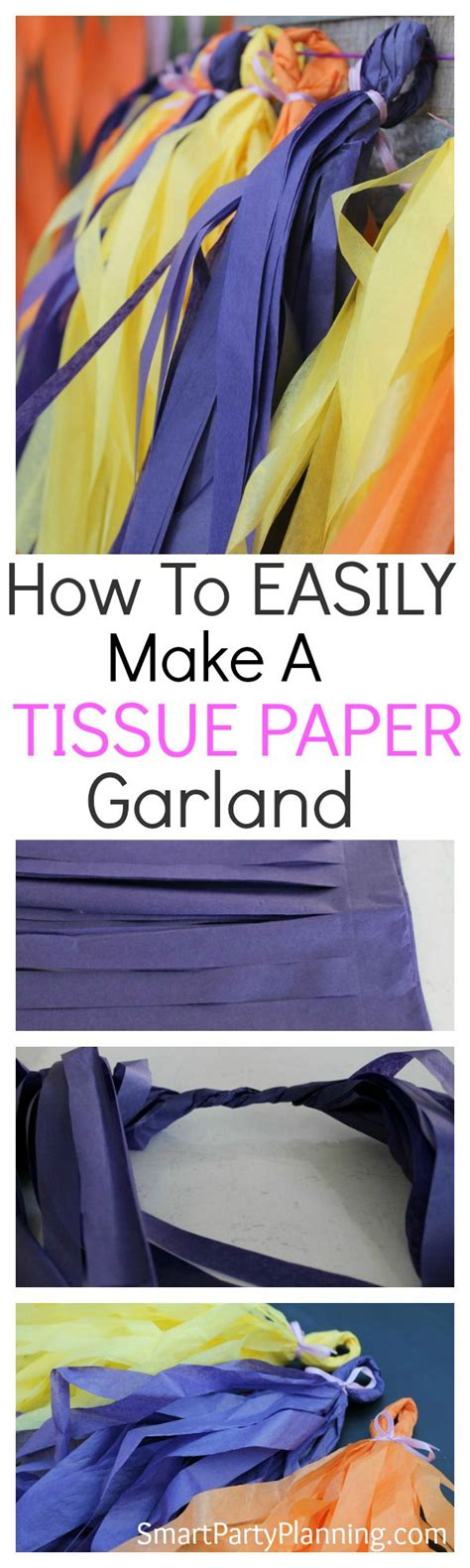 How To Make A Paper The Easy Way - how to make a tissue paper garland the easy way
