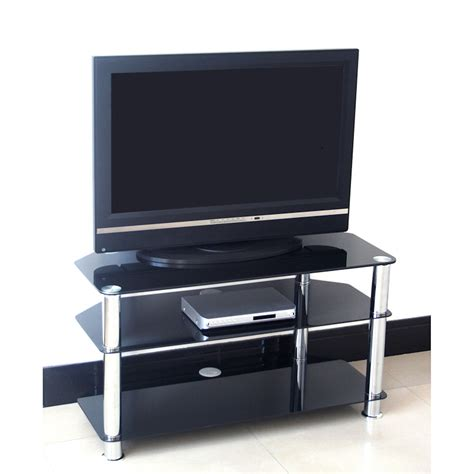 Cabinet Tv Stand by Black Glass Tv Stand 75cm Television Stands Tv Cabinets